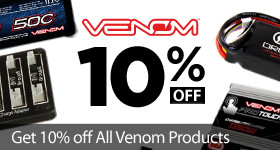 Save 10% Off Venom Products Batteries Chargers Accessories