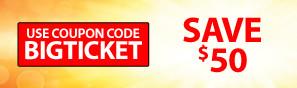Use Code BIGTICKET