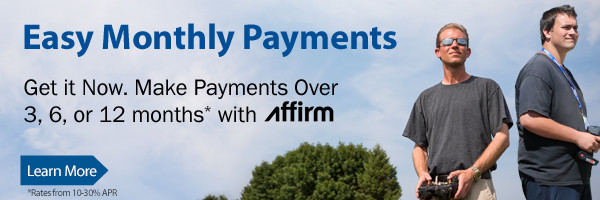 Get your gear now and pay later with easy payment options through Affirm