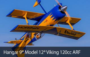 Hangar 9 Model 12 Viking 120cc ARF Bipe Biplane