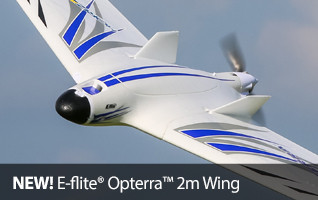 E-flite Opterra FPV Flying Wing Foam Park Flyer RC Airplane