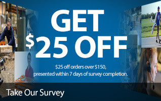 $25 Savings on a future purchase when you take our survey