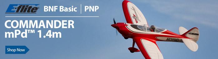 E-flite Commander mPd 1.4m Sport Park Flyer RC Airplane