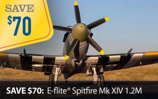 E-flite Warbird Spitfire MK XIV 1.2M BNF Basic AS3X