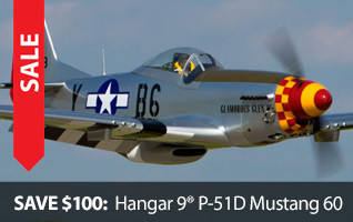 Hangar 9 P-51D Mustang Black Friday Save $100 ARF