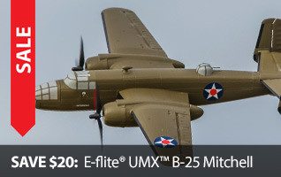 E-flite UMX B-25 Mitchell Cyber Week Savings