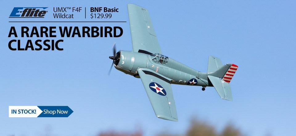 E-flite F4F Wildcat UMX Ultra Micro RC Airplane Wairbird WWII