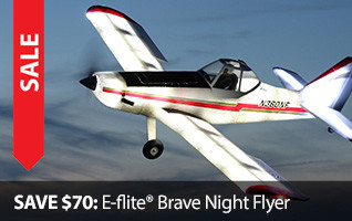 Black Friday BF Save $70 Brave Night Flyer E-flite