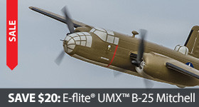 Save $20 Off the UMX B-25 Mitchell