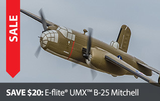 E-flite Warbird UMX B-25 Mitchell BNF Basic AS3X