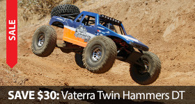 Save $30 on the Vaterra Twin Hammers DT