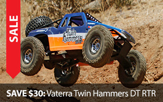 Save $30 on Vaterra Twin Hammers Truck Desert