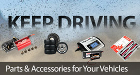 Keep driving with Batteries, Motors, Chargers, Tools, Parts and Accessories for your RC Car or Truck