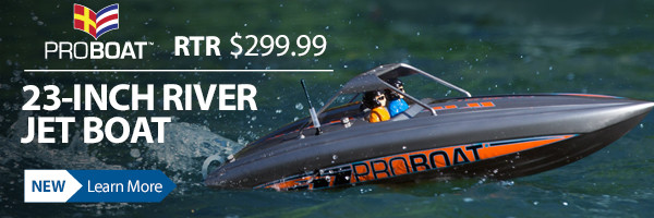 The 23-inch RTR Deep-V River Jet Boat lets you cruise anywhereb including through rapids and moving water.