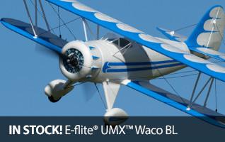 E-flite UMX Biplane Bipe Waco Ultra Micro Brushless BNF