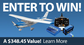 Enter to Win Sweepstakes E-flite UMX Cessna Spektrum DX6e UM-4 Charger Kinexsis
