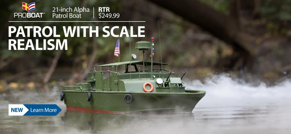 Pro Boat Aplha Patrol Boat Jet Dual RTR