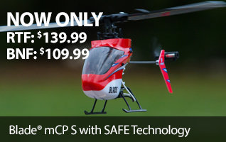 Blade mCP S RTF and BNF Micro Collective Pitch Aerobatic Helicopter