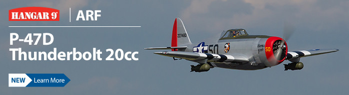 The all new Hangar 9 P-47D Thunderbolt 20cc ARF takes the popular warbird a bold step further.