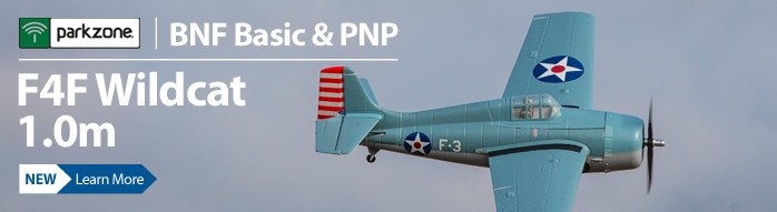 The classic ParkZone F4F Wildcat 1.0m parkflyer is back to deliver the legendary warbird as a great flying parkflyer that?s simple and durable with authentic detail, ample power and the outstanding performance of AS3X and SAFE Select technologies.