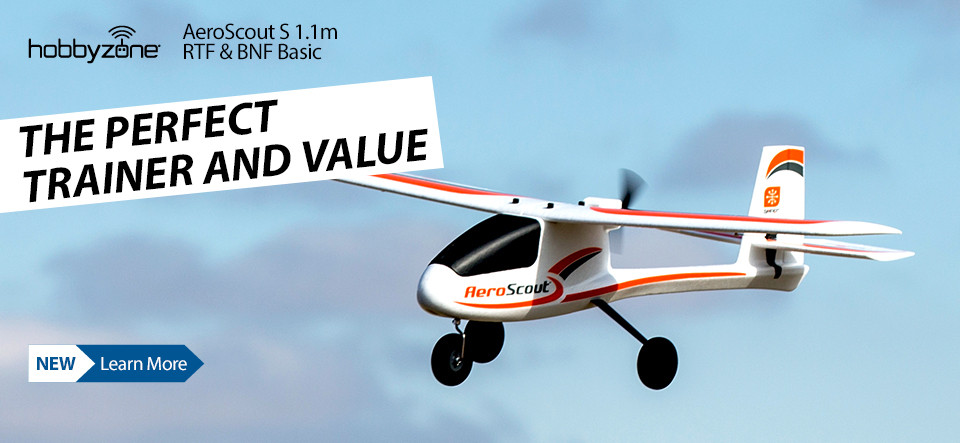 New! HobbyZone AeroScout S 1.1m RTF or BNF Basic