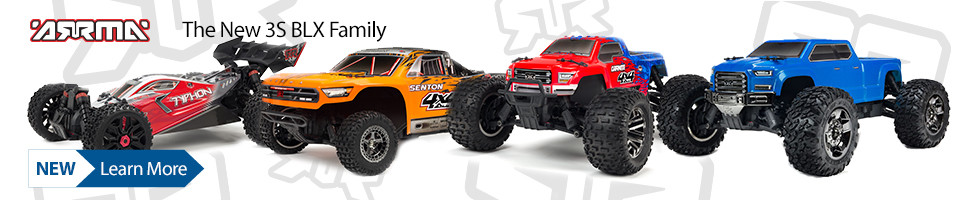 New! ARRMA 3S BLX 4WD Family of RC Trucks and Buggy