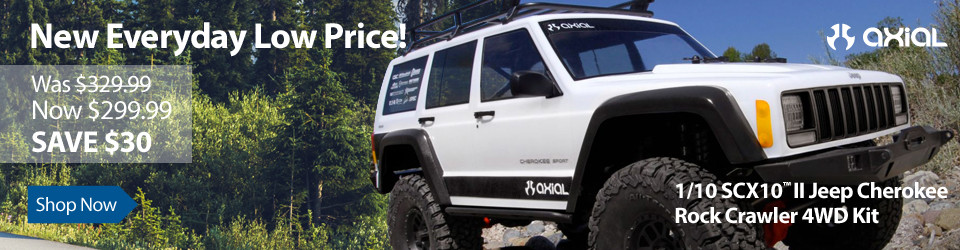 New Everyday Low Price! Axial 1/10 SCX10 II Jeep Cherokee 4WD Kit
