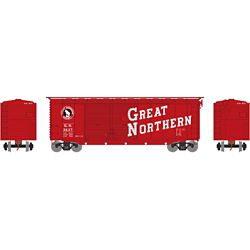 Athearn 16043 HO 40' Double Door Box Great Northern GN #3637
