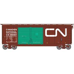 Athearn 16058 HO 40' Double Door Box Canadian National CN/Green Doors #580001