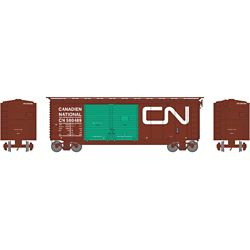 Athearn 16061 HO 40' Double Door Box Canadian National CN/Green Doors #580489