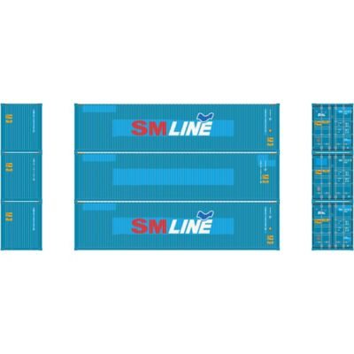 Athearn 17644 N 40' High-Cube Container, SM Line (3)