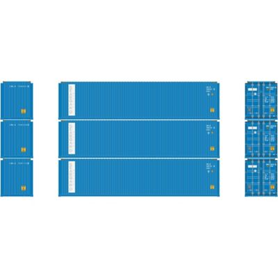 Athearn 17647 N 40' High-Cube Container, Seaboard (3)