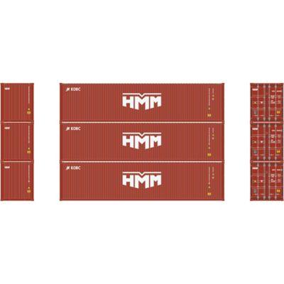 Athearn 17715 N 40' High-Cube Container, Hyundai/New Logo (3)