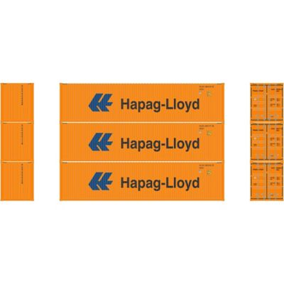 Athearn 17716 N 40' High-Cube Container, Hapag-Lloyd (3)