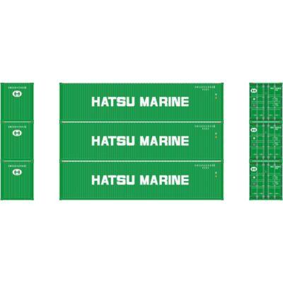 Athearn 17717 N 40' High-Cube Container, Hatsu Marine (3)