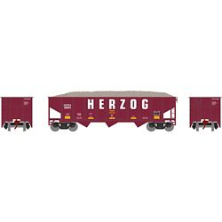 Athearn 1867 N 40' Outside Braced Hopper/Load HZGX #9864