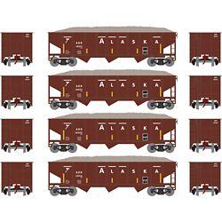 Athearn 1877 N 40' Outside Braced Hopper/Load, ARR (4) #2 ATH1877