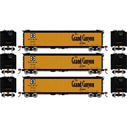 Athearn 2371 N 50' Ice Bunker Reefer Santa Fe/The Grand Canyon (3)