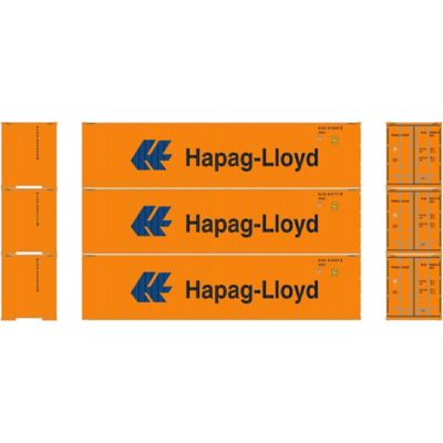 Athearn 27172 HO RTR 40' High-Cube Container, Hapag-Lloyd (3)