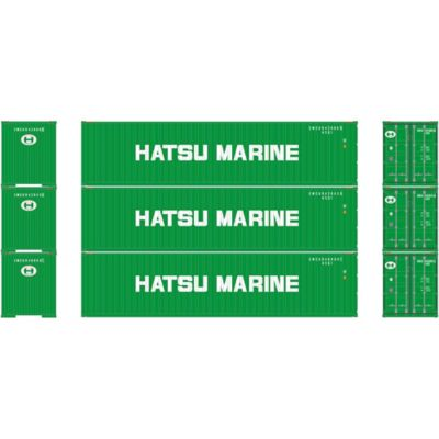 Athearn 27173 HO RTR 40' High-Cube Container, Hatsu Marine (3)