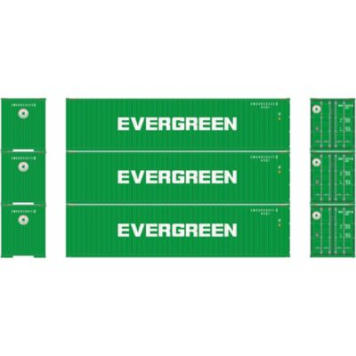 Athearn 27174 HO RTR 40' High-Cube Container, Evergreen (3)