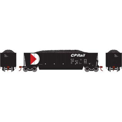 Athearn 29600 HO RTR Bathtub Gondola w/Load, CPR/Black #799677