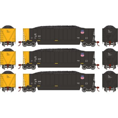 Athearn 29606 HO RTR Bathtub Gondola w/Load, UP/Black #2 (3)