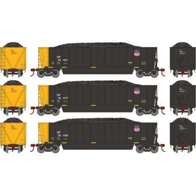Athearn 29607 HO RTR Bathtub Gondola w/Load, UP/Black #3 (3)