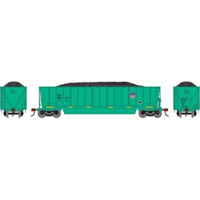 Athearn 29608 HO RTR Bathtub Gondola w/Load,UP/MOW/Green #925151