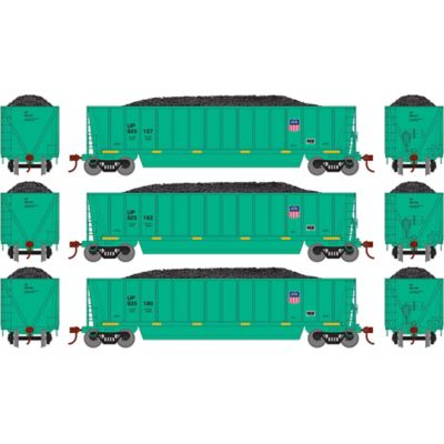 Athearn 29609 HO RTR Bathtub Gondola w/Load, UP/MOW/Green #1 (3)