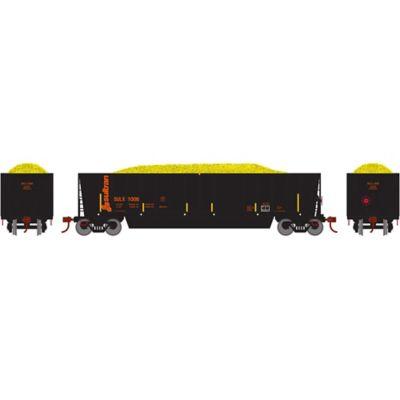 Athearn 29624 HO RTR Bathtub Gondola w/Load, SULX #1006