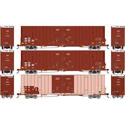 Athearn 75256 HO RTR 60' Gunderson Box TTX (3)