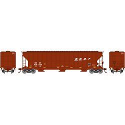 Athearn 81507 HO FMC 4700 Covered Hopper BNSF/Wedge #436758