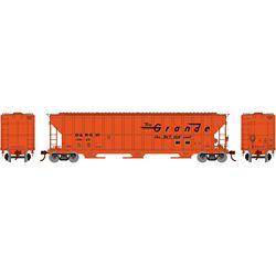 Athearn 81756 HO FMC 4700 Covered Hopper Denver Rio Grande Western DRGW #15665